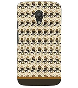 PrintDhaba Owl Pattern D-1678 Back Case Cover for MOTOROLA MOTO G2 (Multi-Coloured)