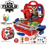#7: Toys Bhoomi Kids Bring Along Junior Builder Tools Suitcase - 19pcs Set