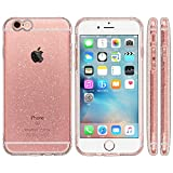 Highend berry iPhone 6s / 6 4.7インチ 落下防止 用 ストラップホール 保護キャップ 一体型 ソフト TPU ケース EXTRA ピンク クリア ラメ