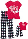 Dollie & Me Girls 2-6x Sweet Heart Rose Jersey Lounge Wear Set