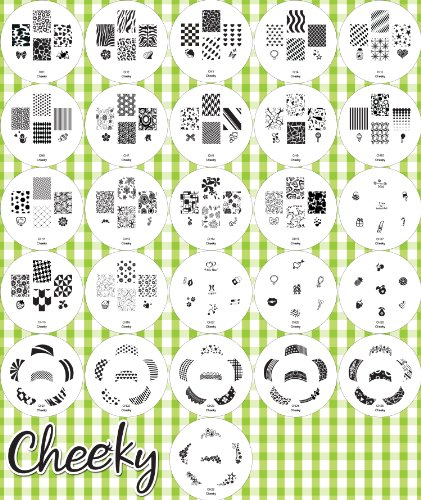 2012 Cheeky Set of 26 Nail Art Nailart Polish Stamp Stamping Manicure Image Plates Accessories Set Kit With Total of 160 Nail Art Designs