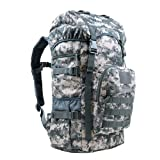 LAIDAYE Quality Outdoor Mountaineering Bag Camouflage Large Capacity Backpack 50L Upgrade,Camouflaged-OneSize (Color: CamouflageD, Tamaño: One Size)