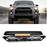 ITrims Front Bumper Grille 4RUNNER for 4Runner Accessories 2014 2015 2016 2017 2018 2019 Black Front Bumper Grille Cover Replacement 2PCS (Color: Smart Key Holes, Tamaño: Front Bumper Grill)