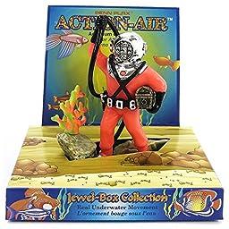 Action Air® Diver w/Hose Aerating Aquarium Ornament, Red