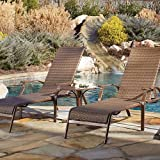 Panama Jack Outdoor Island Cove Woven 3-Piece Chaise Lounge Set