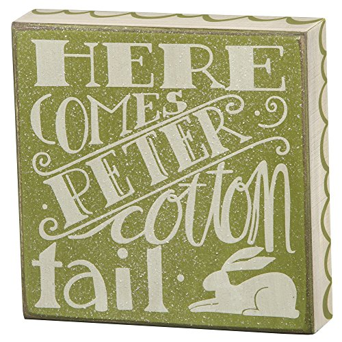 [Primitives By Kathy - Here Comes Peter Cotton Tail - Box Sign] (Peter Cotton Tail)