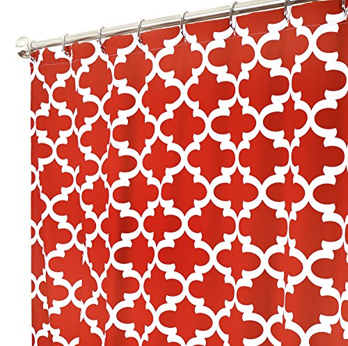 Extra Long Shower Curtain Fabric Shower Curtains Bathroom Curtains Red Unique Shower Curtains 84