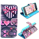 iPhone 4,iPhone 4 Case,iphone 4 Wallet ,iphone 4 Wallet Case,iphone 4 Leather Case, Kaseberry 4S-001 Credit Card Holder Mirror PU Flip Cute Case Cover thumbnail