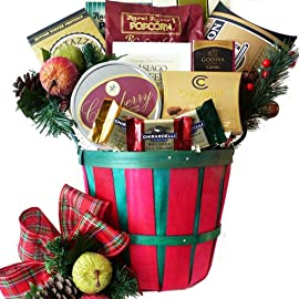 Gourmet Greetings Christmas Holiday Gift Basket with Smoked Salmon