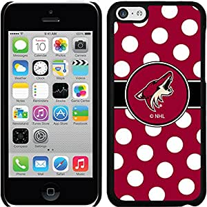 Coveroo Thinshield Snap-On Case for iPhone 5c - Retail Packaging - Black/Arizona Coyotes Polka Dots Design