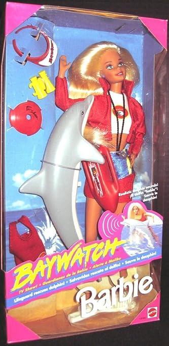 1994 Barbie -BAYWATCH Favorite TV Show - Barbie sauveteur avec son dauphin - Poupée blonde #13199