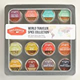 Chef's Daughter World Traveler Gift Collection Travel Spice Kit - 12 Artisan Spice Blends 66g