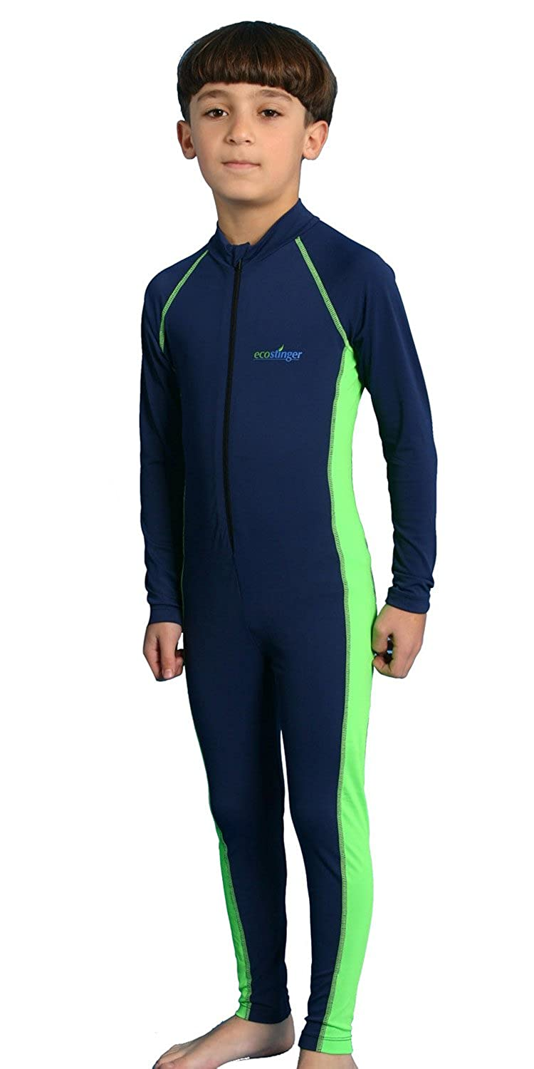 Boys sun protection swimwear stinger suit full body navy lime private sun private sun body