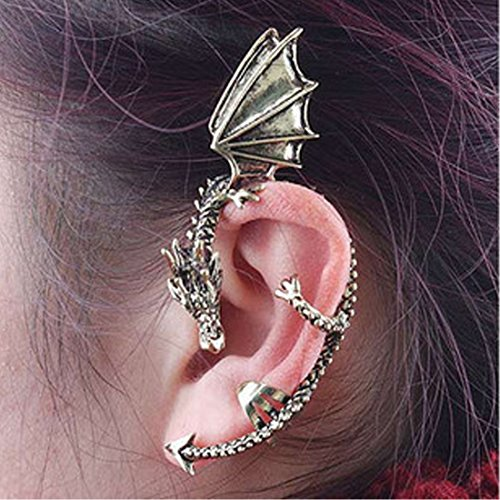 Voberry® Men Women Eye Catching Cool Anti Earring Ear Cuff Clip In Winged Dragon Shape Ear Hanging Earrings (Dragon Eye Ring compare prices)