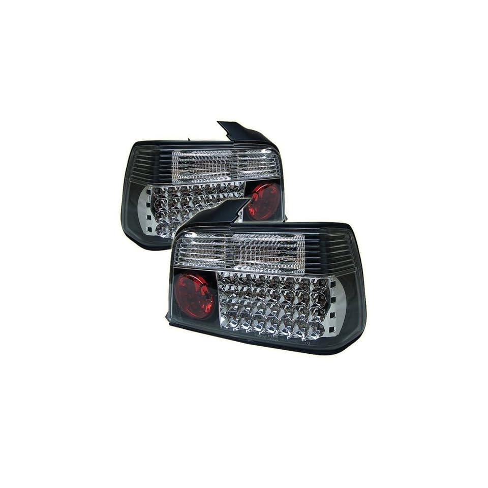 BMW E36 3 Series 316i 318i 320i 323i 325i 328i M3 92 93 94 95 96 97 98 4DR LED Tail Lights + Hi Power White LED Backup Lights   Black (Pair)