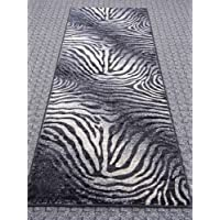 Finger Print Rug Runner 32 In. X 7 Ft. Mystig 464 Fume