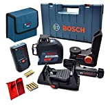 Bosch Three Plane 360 Degree Leveling and Alignment Laser with Line Laser Receiver GLL 3-80 LR6