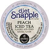 Snapple Diet Peach Iced Tea, Keurig K-Cups, 72 Count