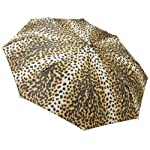 Totes Ladies Signature Basic Automatic Compact Umbrella,Leopard,One Size