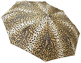 Totes Ladies Signature Basic Automatic Compact Umbrella,Leopard,One Size