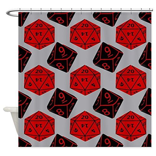 CafePress - Geeky Dice Shower Curtain - Decorative Fabric Shower Curtain (Target D6 compare prices)