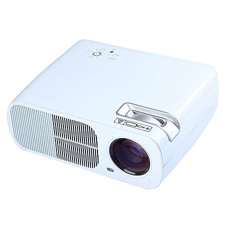 Flylinktech HD LED Vidéoprojecteur 2600 Lumens Contraste 2000: 1 Résolution 800x480 Interface D'entrée 2*HDMI/ 2*USB/ VGA/ AV/ TV/ YPBPR Pour Cinéma Maison