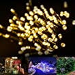 LE� LED Solar Fairy Lights, 17 Meters, Waterproof, 100 LEDs, 1.2 V, Warm White, Portable, with Light Sensor, Outdoor String Lights, Christmas Lights, Wedding, Party
