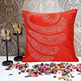 Cushion Casa Cushion Covers (Red) - B00NMC9OAK