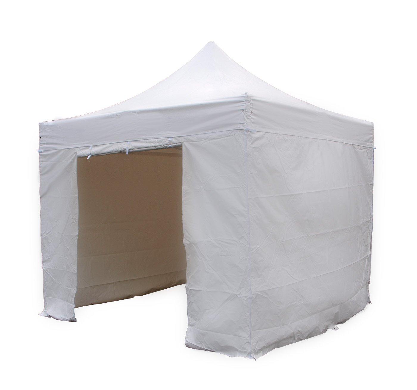 Seitenplanen – Set für Faltpavillon MENORCA 3×3 Meter, PVC 520gr/m² weiss bestellen
