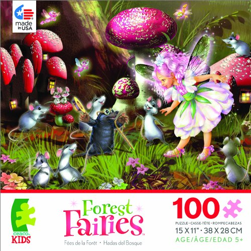 Forest Fairies Fairy, Mice and Mole Jigsaw Puzzle