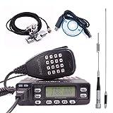 LEIXEN VV-898S Dual Band VHF/UHF 5W/10W/25W Two Way Radio Car Mobile Ham Radio Tranceiver With USB Programming Cable+ Dual Band Antenna Set (Color: Black)