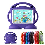 iPad 2 3 4 Cases iPad 2 3 4 Covers Lioeo Durable Cute Foam Childproof Shock Proof Protective Kids Cover Case with Stand and Carrying Handle for Apple iPad 2 3 4 9.7 Inch Screen (Purple) (Color: Purple, Tamaño: Apple iPad 2/3/4 9.7inch)