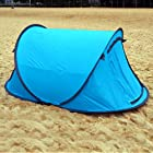 Large Pop Up Backpacking Camping Hiking Tent Automatic Instant Setup Easy Fold back - Blue
