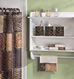 Bathroom Accessory Set Cat Wild Animal Jungle Print Safari Shower Curtain Towel