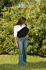 Black INVISIBLY ADJUSTABLE Baby Sling