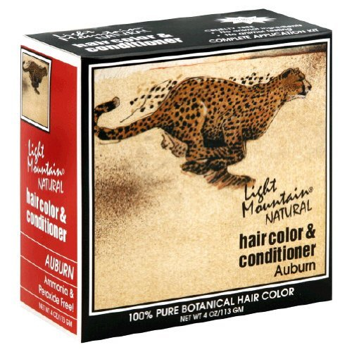 Light Mountain Natural Hair Color & Conditioner, Auburn - 4 Oz at Amazon.com