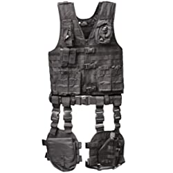 Ultimate Arms Gear Tactical Assault Scenario Stealth Black MOLLE 10 Piece Ambidextrous Complete Kit Set