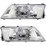 Driver and Passenger Headlights Headlamps Replacement for Nissan 26060-1M325 26010-1M325