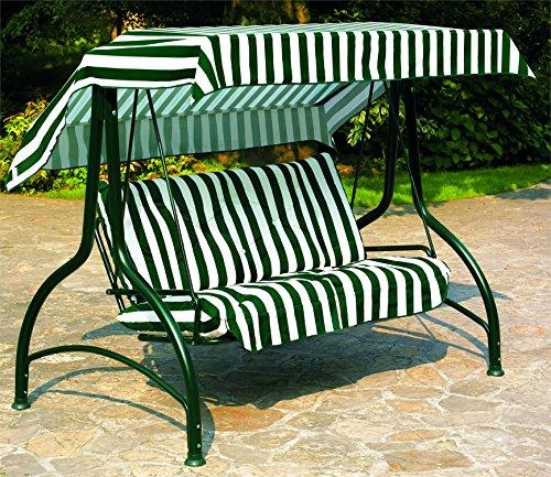 Dondolo SPLENDIDO 3 posti struttura verde Colore Verde