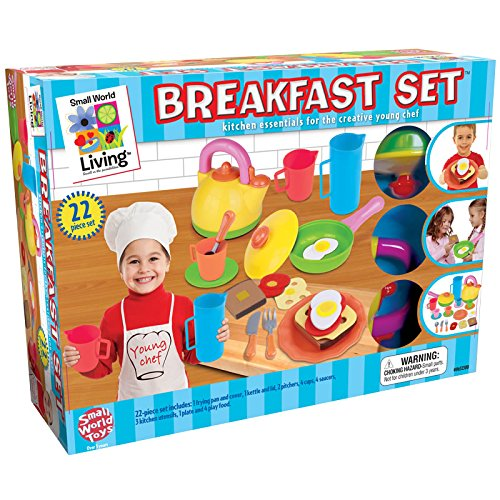 Small World Toys Living - Young Chefs Breakfast 22 Pc. Playset