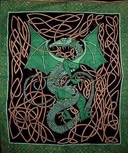 Celtic Dragon Tapestry Coverlet Bedspread Unique Home Decor