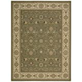 Nourison PC001 Persian Crown Collection Rectangle Rug, 5.3 by 7.4-Feet, Green