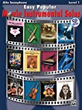 Easy Popular Movie Instrumental Solos Book & CD Alto Sax (Pop Instrumental Solo Series)