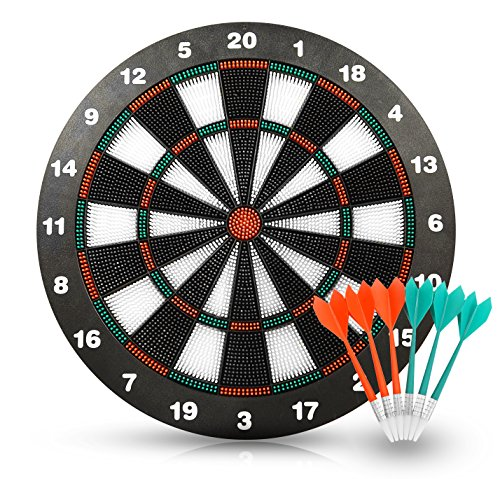 ActionDarts - Soft Tip Safety Darts and Dart Board - Great Games for Kids - Leisure Sport for Office (Set) (Sports Games Kids compare prices)