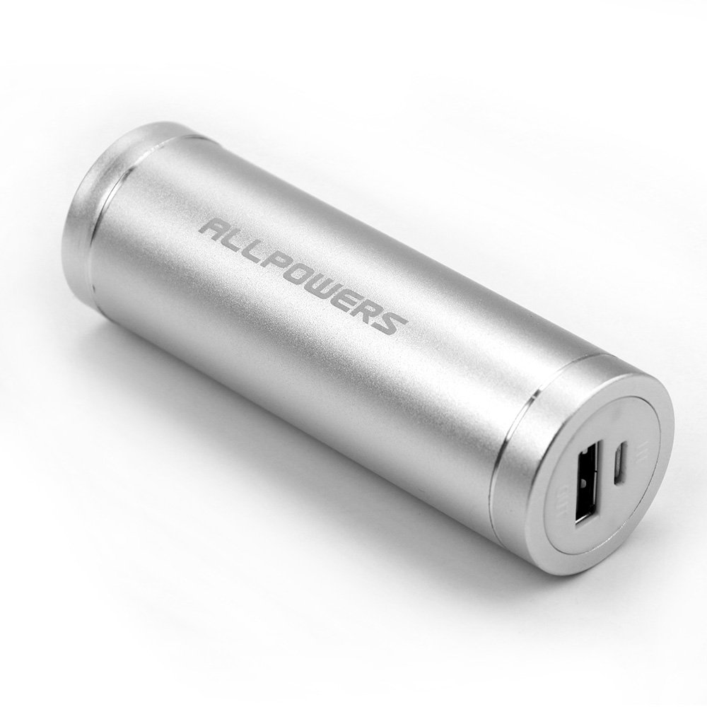 ALLPOWERS 5400mAh Portable Charger External Battery Pack Power Bank for iPhone 6S 6 Plus iPad Nexus Samsung Galaxy S6 Edge S5 S4 Note 4 Tablet and more(Silver)