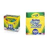 Crayola 58-7858 Ultra-Clean Washable Broad Line Markers, 40-Count with Crayola Super Tips Washable Markers (100 Count) Bundle