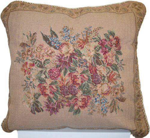 Dada Bedding Dp-3100 Wildflower Wonderland Woven Decorative Pillow, 18-Inch