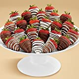 24 Gourmet Assorted Dipped Swizzled Strawberries