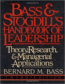 Bass And Stogdill S Handbook