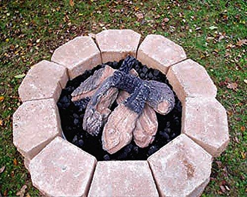 [해외]HPC 캠프 파이어 스타일 야외 세라믹 가스 로그 설정 (30 버너와 함께 사용) 6 조각/HPC Campfire Style Outdoor Ceramic Gas Log Set, 6 Piece (For use with